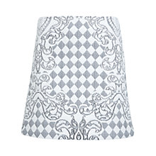Buy Miss Selfridge Diamond Printed Jacquard Skirt, Multi Online at johnlewis.com