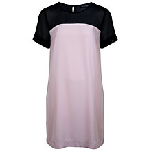 Buy Miss Selfridge Colour Blocking T-Shirt Dress, Pink Online at johnlewis.com
