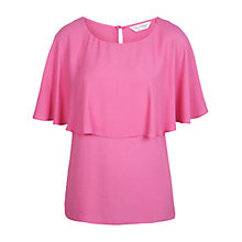 Buy Miss Selfridge Plain Cape Top, Pink Online at johnlewis.com