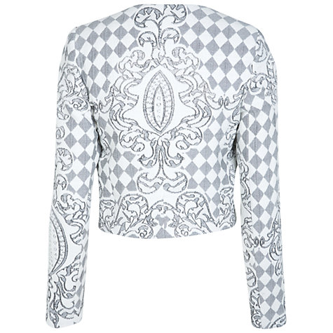 Buy Miss Selfridge Diamond Quilted Jacket, Multi Online at johnlewis.com
