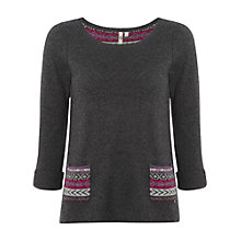Buy White Stuff Anya Two Pocket Jumper, Gunmetal Online at johnlewis.com