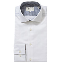 Buy Ted Baker Endurance Rosecol Penny Collar Shirt, White Online at johnlewis.com
