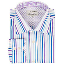 Buy Ted Baker Endurance Sterling Multi-Stripe Shirt, Purple Online at johnlewis.com