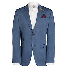 Buy Ted Baker Eels Linen Herringbone Blazer, Blue Online at johnlewis.com