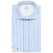 Buy Ted Baker Endurance Sterling Striped Double Cuff Shirt, Blue/White Online at johnlewis.com
