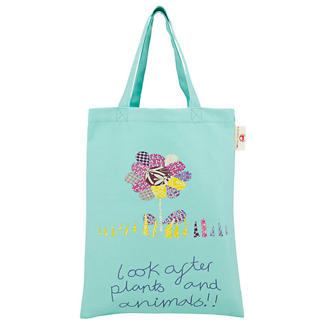 Buy Kids Company Plants Motif Canvas Bag, Pastel Green Online at johnlewis.com