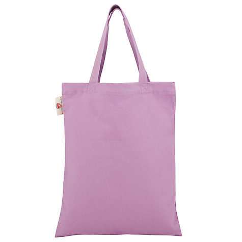 Buy Kids Company Polka Dot Canvas Bag, Purple Online at johnlewis.com