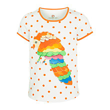 Buy Kids Company Polka Dot Parrot T-Shirt, Cream/Orange Online at johnlewis.com