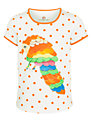 Kids Company Polka Dot Parrot T-Shirt, Cream/Orange