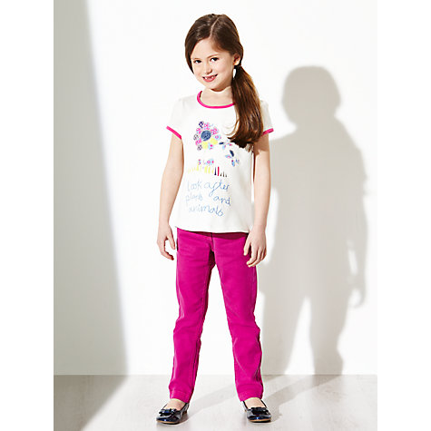 Buy Kids Company Girls' Look After The Plants T-Shirt, Cream Online at johnlewis.com