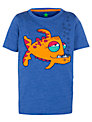 John Lewis Boy Fish Print T-Shirt, Blue