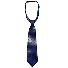 Buy John Lewis Boy Mini Diamond Print Slip-On Tie, Navy Online at johnlewis.com