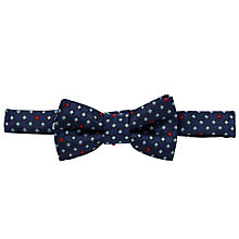 Buy John Lewis Boy Mini Diamond Print Bow Tie, Navy Online at johnlewis.com