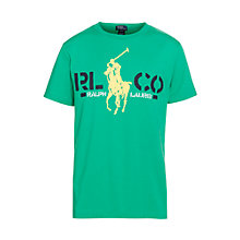 Buy Polo Ralph Lauren Boys' Pony Graphic T-Shirt, Green Online at johnlewis.com