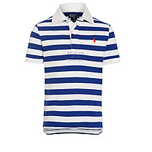 Buy Polo Ralph Lauren Boys' Stripe Rugby Polo, Blue/White Online at johnlewis.com