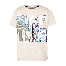 Buy John Lewis Boy Surf Time Marl T-Shirt, Grey Online at johnlewis.com