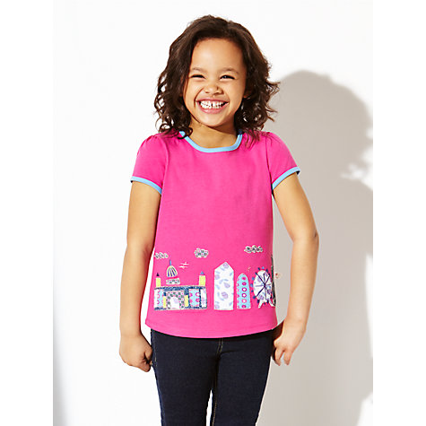 Buy Kids Company Girls' Cityscape Collage T-Shirt, Pink Online at johnlewis.com