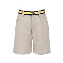 Buy Polo Ralph Lauren Boys' Chino Shorts with Belt, Natural Online at johnlewis.com
