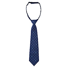 Buy John Lewis Boy Anchor Dot Slip-On Tie, Navy Online at johnlewis.com