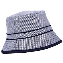 Buy John Lewis Boy Stripe Ticking Bucket Hat, Navy/White Online at johnlewis.com