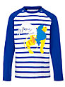 Kids Company Lion Motif Long Sleeve Top, Blue/White