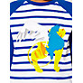 Buy Kids Company Lion Motif Long Sleeve Top, Blue/White Online at johnlewis.com