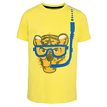 Buy John Lewis Boy Snorkelling Tiger T-Shirt, Yellow Online at johnlewis.com