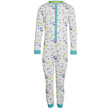 Buy Kids Company Boys' Patterned Onesie, Cream/Multi Online at johnlewis.com