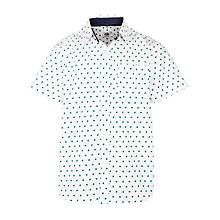 Buy John Lewis Boy Split Pea Print Shirt, White Online at johnlewis.com