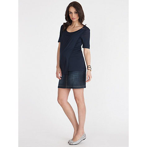 Buy Séraphine Betty Maternity Skirt, Blue Denim Online at johnlewis.com