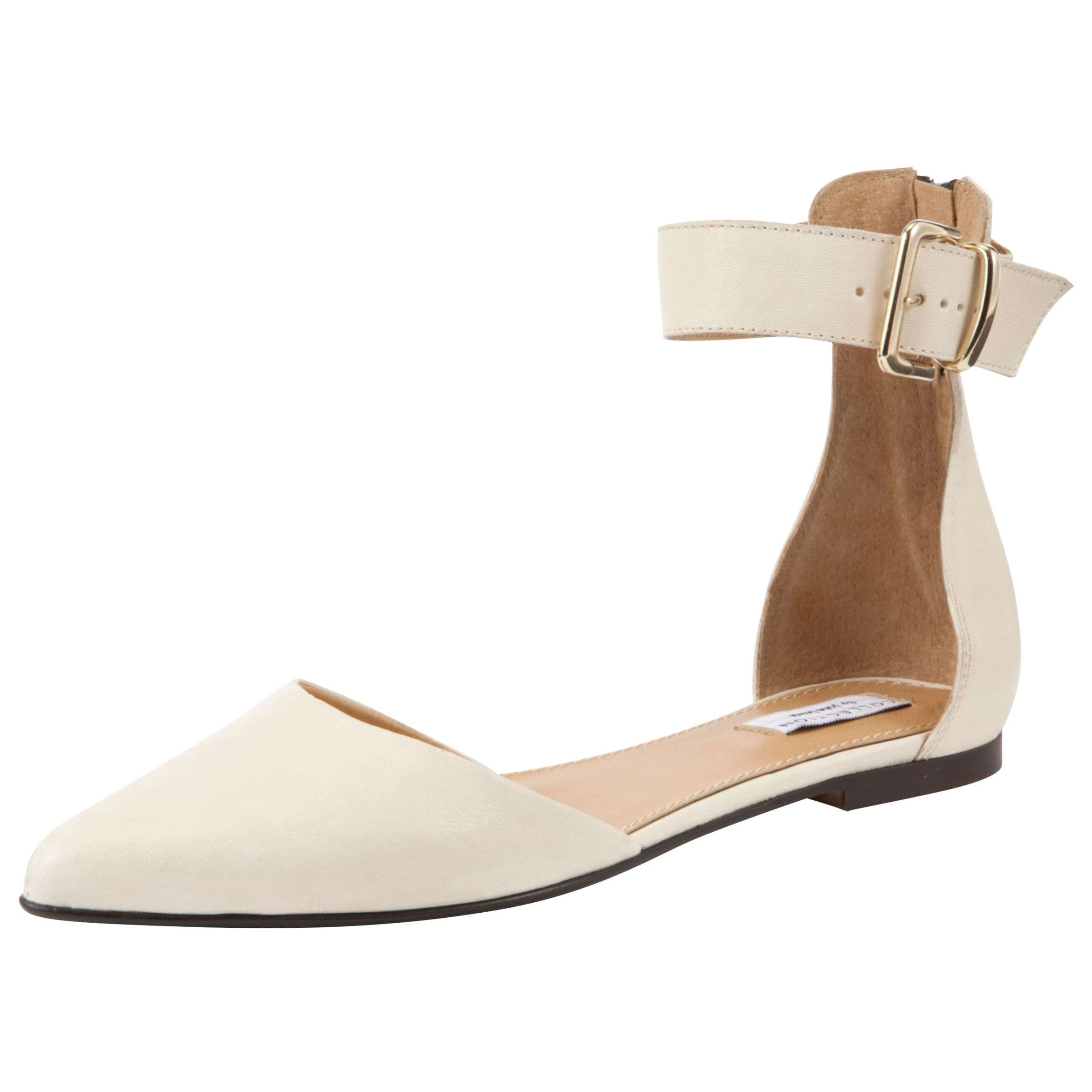 Collection By John Lewis Vermont Flat Court Shoes, Cream