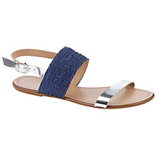Buy John Lewis Woven Leather Rio Double Strap Sandals Online at johnlewis.com