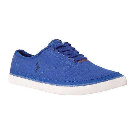 Buy Polo Ralph Lauren Oran Canvas Trainers, Navy Online at johnlewis.com