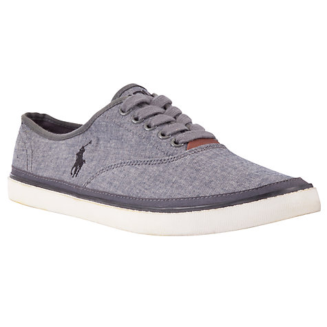 Buy Polo Ralph Lauren Oran Chambray Trainers, Grey Online at johnlewis.com