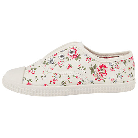Buy Cath Kidston Bramley Spring Canvas Trainers, Cream/Multi Online at johnlewis.com