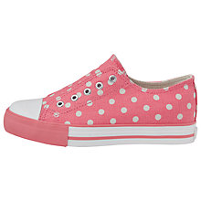 Buy Cath Kidston Little Spot Canvas Pumps, Pink/White Online at johnlewis.com