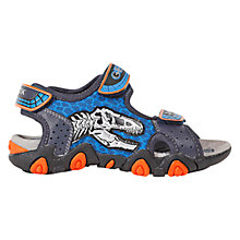 Buy Geox Strike Dinosaur Motif Sandals, Navy/Orange Online at johnlewis.com