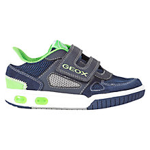 Buy Geox Gregg Rip-Tape Trainers, Navy/Lime Online at johnlewis.com