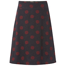 Buy White Stuff Verushka Spot Reversible Skirt, Gunmetal Online at johnlewis.com