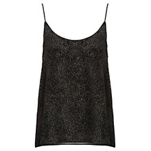Buy Jigsaw Devore Cami, Black Online at johnlewis.com
