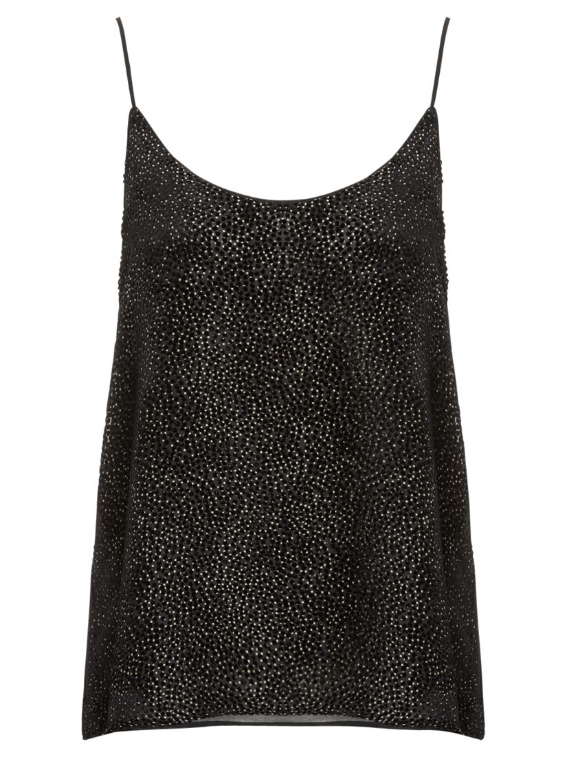 Jigsaw Devore Cami, Black