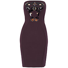 Buy Almari Embellished Dress, Purple Online at johnlewis.com