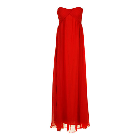 Buy True Decadence Ruched Bandeau Maxi Dress, Red Online at johnlewis.com