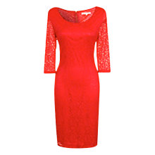 Buy True Decadence Lace Layer Midi Dress, Red Online at johnlewis.com