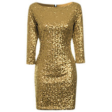 Buy True Decadence Bodycon Midi Dress, Gold Online at johnlewis.com