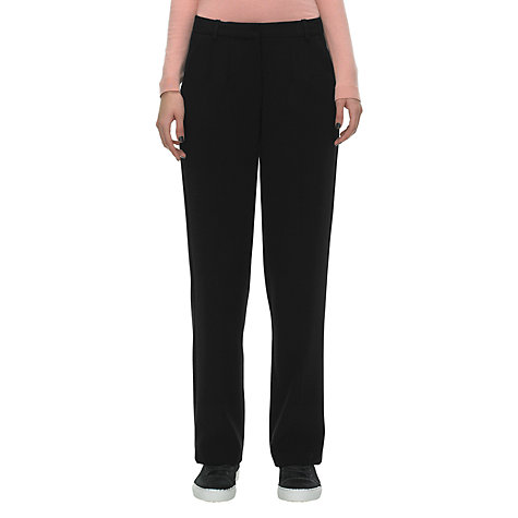 Buy Whistles Tilda Straight Leg Trousers, Black Online at johnlewis.com