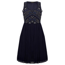 Buy Rise Maggie Embellished Dress, Navy Online at johnlewis.com