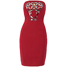 Buy Almari Embellished Dress, Red Online at johnlewis.com