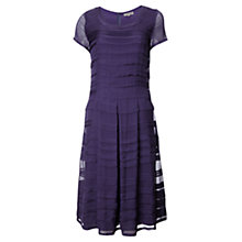 Buy Jigsaw Silk Pleat Tier Dress, Ink Online at johnlewis.com