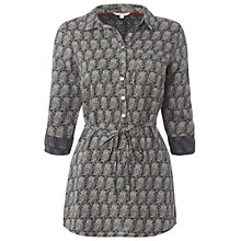 Buy White Stuff Owl Tunic Top, Gunmetal Online at johnlewis.com